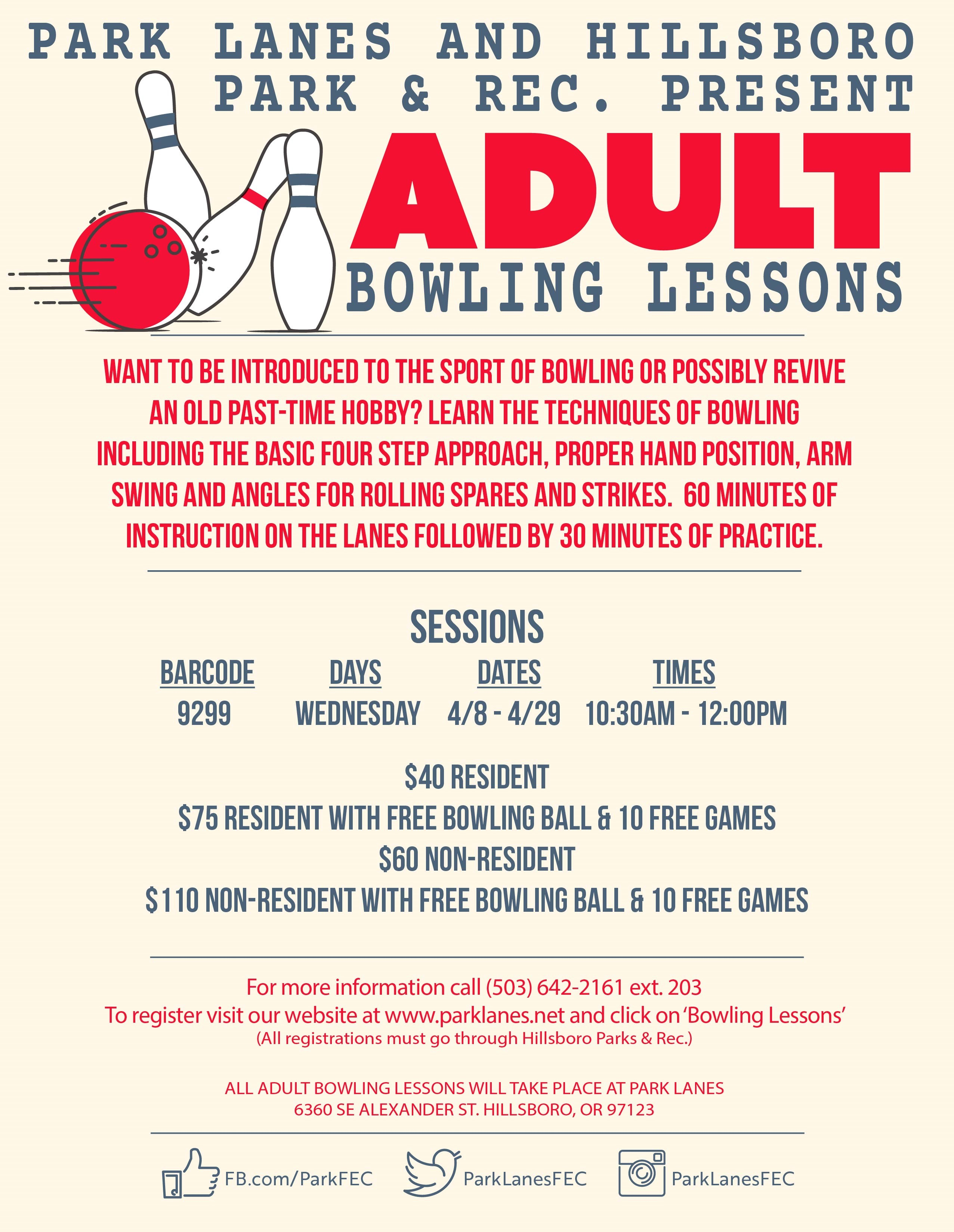 adult bowling flier